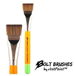 BOLT Face Painting Brushes by Jest Paint – FIRM 1″ Stroke