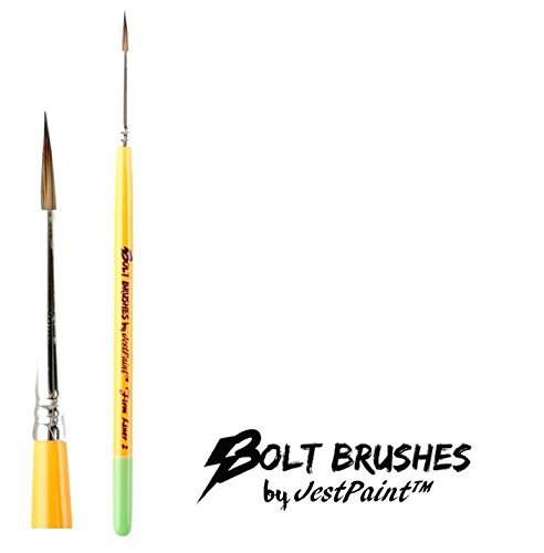 BOLT Face Painting Brushes by Jest Paint – FIRM Liner #2