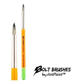 BOLT Face Painting Brushes by Jest Paint – Small FIRM Blooming Brush