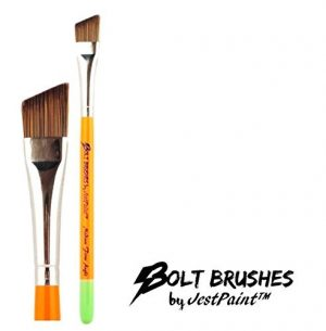 BOLT Face Painting Brushes by Jest Paint – Medium FIRM Angle