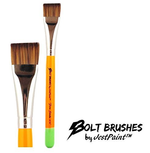 BOLT Face Painting Brushes by Jest Paint – FIRM 3/4″ Stroke