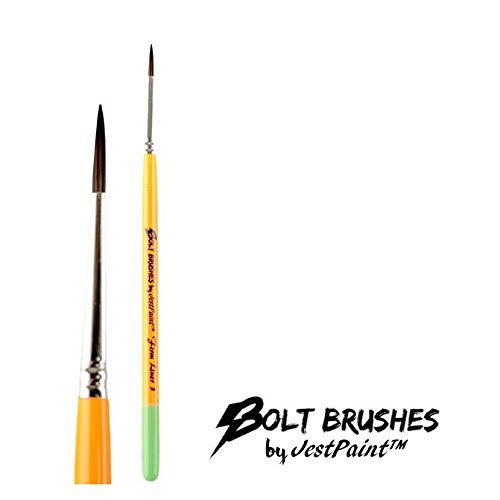 BOLT Face Painting Brushes by Jest Paint – FIRM Liner #3
