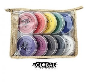 Bundle – Face Paint Kit – 10 Standard Colors by Global Body Art